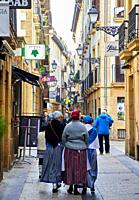 Old city, regional costumes, Feria de Santo Tomás, The feast of St. Thomas takes place on December 21. During this day San Sebastián is transformed in...