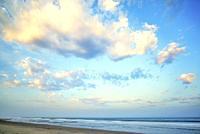 Cloudy morning coastal scene at Imperial Beach. Imperial Beach, California, USA.