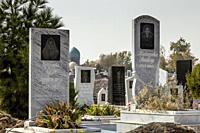 Muslim Graves In A Cemetary, Samarkand, Uzbekistan.