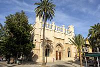 Lonja de Palma de Mallorca , Sa Llotja, antigua sede del Colegio de Mercaderes, Monumento histórico-artístico, construida por Guillem Sagrera entre 14...