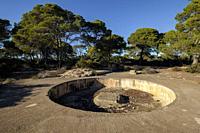 cuartel de artilleria de Cap Blanc, llucmajor, ,Mallorca, balearic islands, Spain.