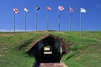 Postern (tunnel entrance), Fort Morgan State Historic Site, Alabama.