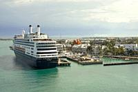 Holland America Rotterdam Cruise ship at the popular Florida destination of Key West.