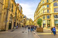 Shopping Street in Dijon, France.