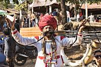 Mr. Mustache contestant, Desert Festival in Jaisalmer, Rajasthan, India.