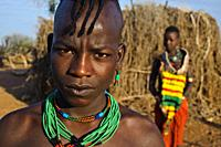 Brother and sister belonging to the Hamer tribe ( Ethiopia).