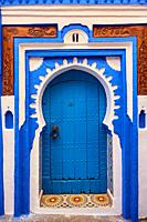 Morocco, Rif area, Chefchaouen (Chaouen) town, the blue city.