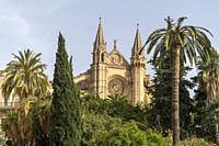 cathedral La Seu, Palma de Mallorca, Majorca, Balearic Islands, Spain, .