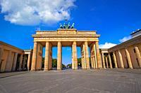 Berlin Brandenburg Gate Brandenburger Tor in Germany.