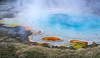 Hot Springs, Yellowstone National Park, Unesco World Heritage Site, Wyoming, Usa, America.