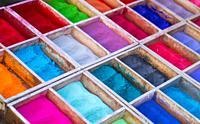Color powder, Pashupatinath Temple, Bagmati River, Kathmandu Valley, Nepal, Asia, Unesco World Heritage Site.