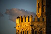 Torre del Oro (Tower of Gold, 13th century Moorish building), detail. Seville, Spain.