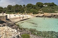 Cala Sa Nau, Felanitx, Majorca, Balearic Islands, Spain