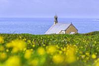 Saint-They chapel at Van point. Cléden-Cap-Sizun, Finistère, Bretagne, France.