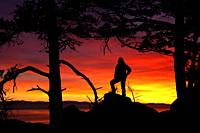 Sunset from Mt Erie, Mt Erie Park, Anacortes, Washington.