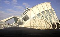 Science Museum at City of Arts and Sciences, Valencia, Spain.
