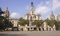 Town Hall, Plaza del Ayuntamiento, Valencia, Spain.