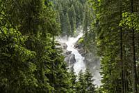 The Krimml Waterfalls in the High Tauern National Park, Krimml, Salzburg, Austria.