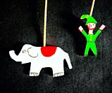 A toy of an elephant and an elf decorate Taller Tlamaxcalli cardboard workshop in Colonia Roma, Mexico City, Mexico