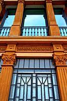 windows, Torre de la Sagrera, civic center, Barcelona, Catalonia, Spain