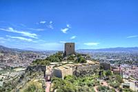 HDR image of the Alfonsina Tower at Lorca Castle Murcia Spain.