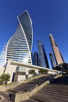 "High rise buildings of Moscow International Business Centre (MIBC), also known as ""Moscow City"""". Moscow, Russia."
