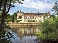 Bishopthorpe Palace official residence of the Archbishop of York from Fulford Ings City of York Yorkshire England.