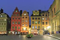 The Old Town at Dusk, Stockholm, Sweden.