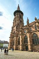 Freiburg Minster. Cathedral. Freiburg. Freiburg im Breisgau. Black Forest. Baden Wurttemberg. Germany