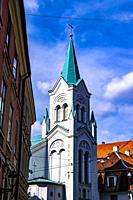 Our Lady of Sorrows Church in Riga, Latvia, Europe.