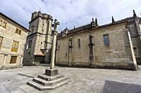 Real Basilica Menor de Santa Maria la Mayor, Plaza de Alonso de Fonseca, Pontevedra, Galicia, Spain