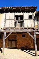 Traditional architecture. Calatañazor. Soria province. Castilla y León. Spain