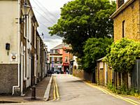 Street view of Sheerness in the Isle of Sheppey - Kent, England.