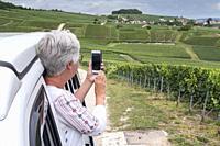 Taking a photo from the Camper Ville Dommange Reims Marne Grand Est France.