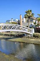 Bridge in Venice canals, Los Angeles, California.