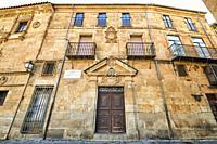 Casa del Regidor, Casa donde vivio Miguel de Unamuno en Salamanca, Salamanca City, Spain, Europe.