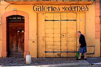 Street scene, Valensole, Alpes de Haute Provence, 04, PACA, France