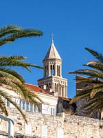Top of St. Domnius Cathedral Bell tower, Split, Croatia.