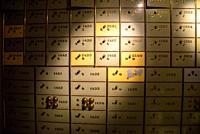 Safe deposit boxes in bank