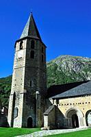 The Roman church of Santa Maria. Arties town, Lleida province, Spain.