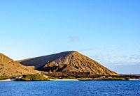 Sullivan Bay at sunrise, Santiago or James Island, Galapagos, Ecuador.