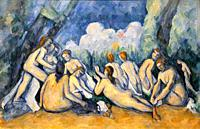 """""""Bathers (Les Grandes Baigneuses)"""", a. 1894-1905, Paul Cézanne, National Gallery, London. England. UK."