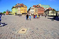 Castle square or Placa Zamkowy, Warsaw, Poland.