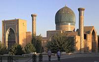 Uzbekistan, Samarkand, Gur-e-Amir, Guri Amir, Mausoleum of, Tamerlane, Timur,.
