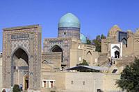 Uzbekistan, Samarkand, Shah-i-Zinda, necropolis, mausoleums,.