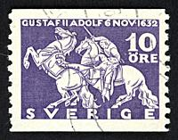 Swedish postage stamp.