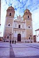 Facade of the church. Velez Rubio, Almeria province, Andalucia, Spain.