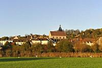 Village of Epernon during fall season, Eure-et-Loir department, Centre-Val de Loire region, France, Europe.