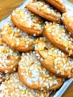 Toledanas, almond pastries. Toledo, Spain.