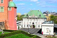 Pod Blacha palace, center of Warsaw, Poland.